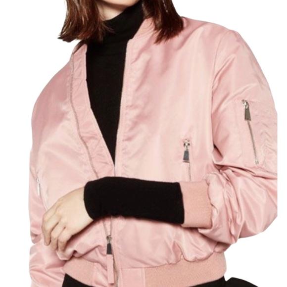 Zara Jackets & Blazers - Zara Pastel Bubblegum Pink Bomber Jacket